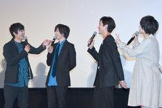 「劇場版ドルメンX」の初日舞台挨拶の様子。