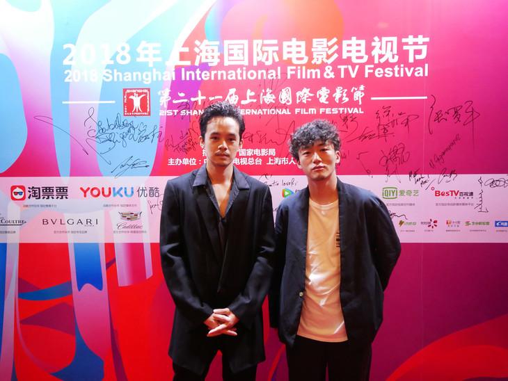 第21回上海国際映画祭に参加した池松壮亮(左)と松居大悟(右)。