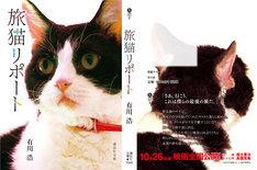 「旅猫リポート」スペシャル猫帯付き書影