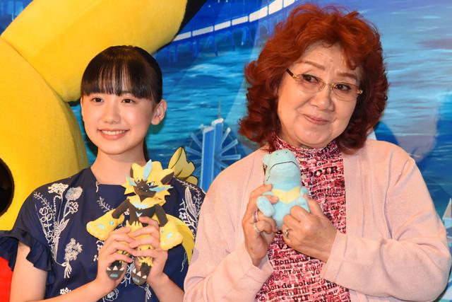 左から芦田愛菜、野沢雅子。