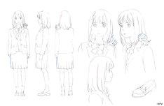 「金曜ロードSHOW!」新オープニングに登場する「女の子」(制作中)。(c)NTV