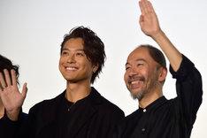 左からEXILE TAKAHIRO、塚本晋也。