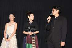左から板野友美、久本雅美、畑泰介。