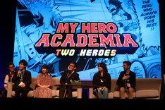 「僕のヒーローアカデミア THE MOVIE ~2人の英雄(ヒーロー)~」ワールドプレミアの様子。