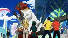 「僕のヒーローアカデミア THE MOVIE ~2人の英雄(ヒーロー)~」に登場するゴジロ(中央)。