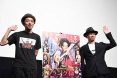 「パンク侍、斬られて候」ティーチインイベントの様子。左から宮藤官九郎、石井岳龍。