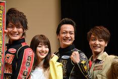 「炎神戦隊ゴーオンジャー 10 YEARS GRANDPRIX」完成披露舞台挨拶の様子。