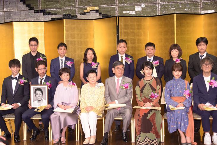 第26回橋田賞授賞式の受賞者。