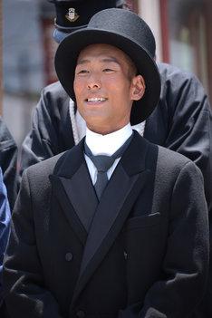 金栗四三役の中村勘九郎。