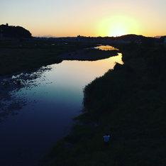 中橋からの渡良瀬川夕景。
