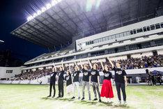 「劇場版 仮面ライダービルド Be The One」北九州イベントの様子。