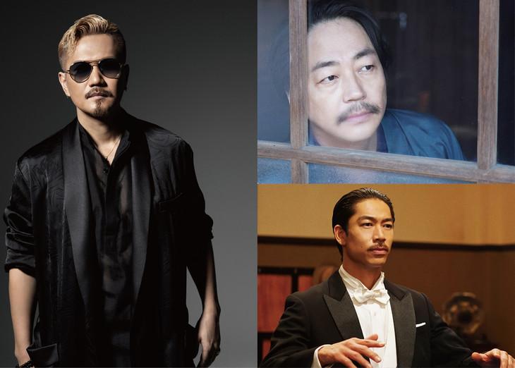 左から時計回りにATSUSHI、大森南朋、AKIRA。