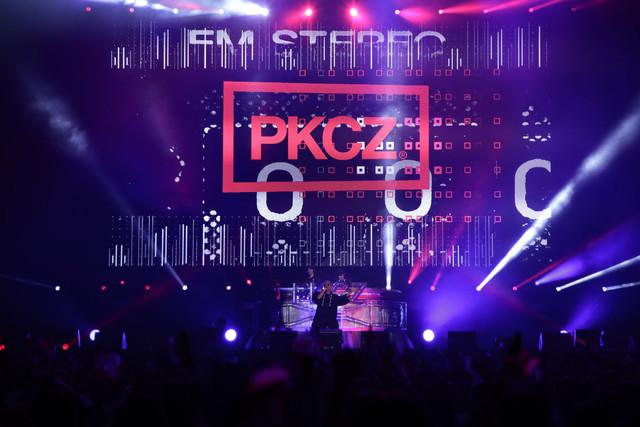 「PKCZ×DTC-湯けむり純情篇-from HiGH&LOW 完成披露試写会&PREMIUM LIVE SHOW」より、PKCZによるパフォーマンスの様子。