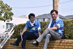 「乱反射」より、芹澤興人(左)と光石研(右)。