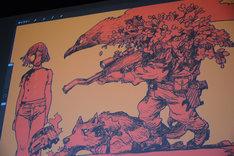 「ダウンレンジ」プレミア試写会にて、寺田克也が描いたイラスト。