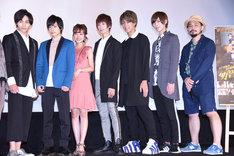 左から寺坂頼我、小澤廉、前田希美、奥山ピーウィー、IGU、中島拓斗、名倉良祐。