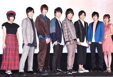 左から的場華鈴、森勇翔、しだっくす、あつし、飯山裕太、寺坂頼我、小澤廉、前田希美。