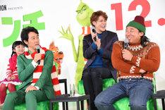 「グリンチ」日本語吹替版製作発表会見の様子。