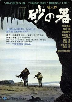 「ミステリー映画大全集~横溝正史vs.松本清張~」展示内容より、「砂の器」ポスター。