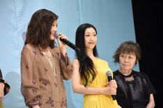 左から前田敦子、壇蜜、筒井ともみ。