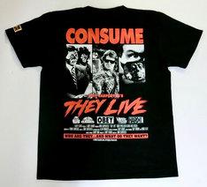 「ゼイリブ(THEY LIVE)CONSUMEブラック Tシャツ」(裏面)
