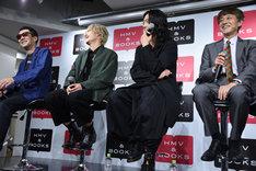 左から石田秀範、藤田富、谷口賢志、白倉伸一郎。