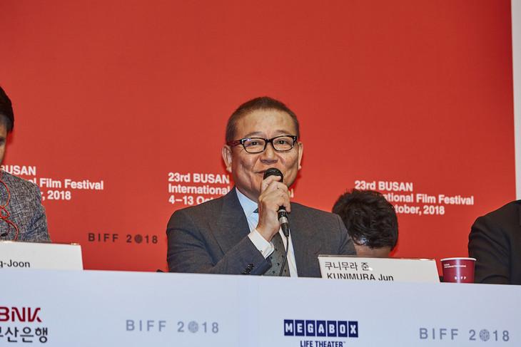 第23回釜山国際映画祭に出席した國村隼。