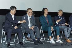 第23回釜山国際映画祭の様子。左から吉田康弘、國村隼、青木崇高、阿部秀司。