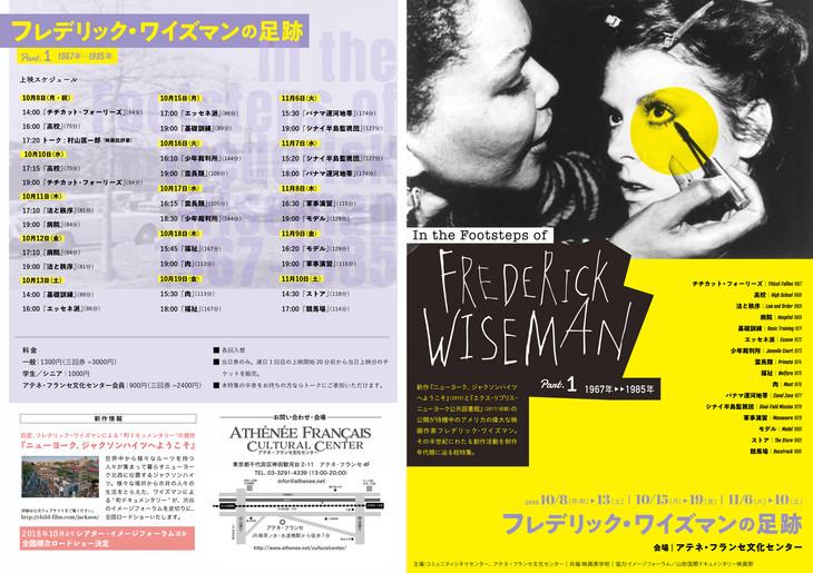 「フレデリック・ワイズマンの足跡 Part.1 1967年-1985年」チラシビジュアル