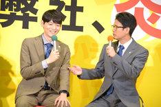 唐沢寿明(右)から「赤ちゃん」と呼ばれる古川雄輝(左)。