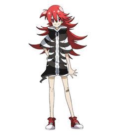 三乃ハラミ(CV:日高里菜)15歳。転生前は狂戦士。現世では自堕落で自由奔放なニートで、精神は小学生男子。