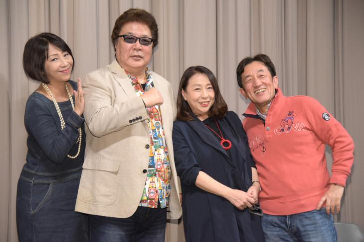 左から岡本麻弥、玄田哲章、土井美加、平田勝茂。