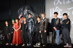 「ヴェノム」ジャパンプレミアの登壇者たち。