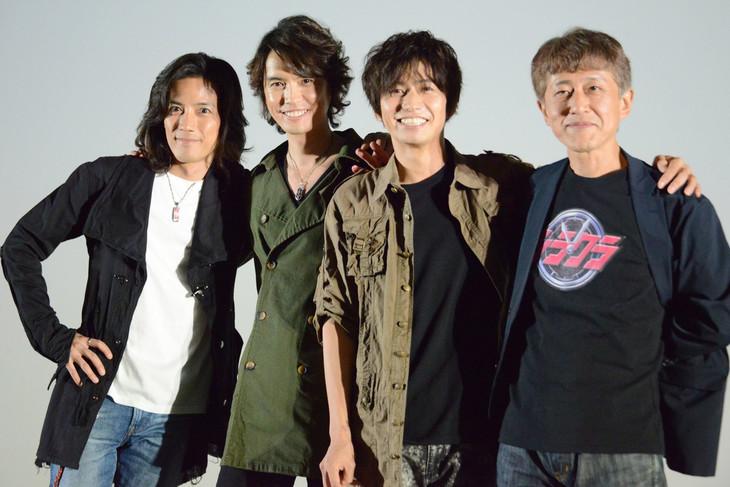 左から半田健人、村上幸平、武田航平、白倉伸一郎。