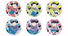 「えいがのおそ松さん」ムビチケカード第2弾特典の缶バッジ。
