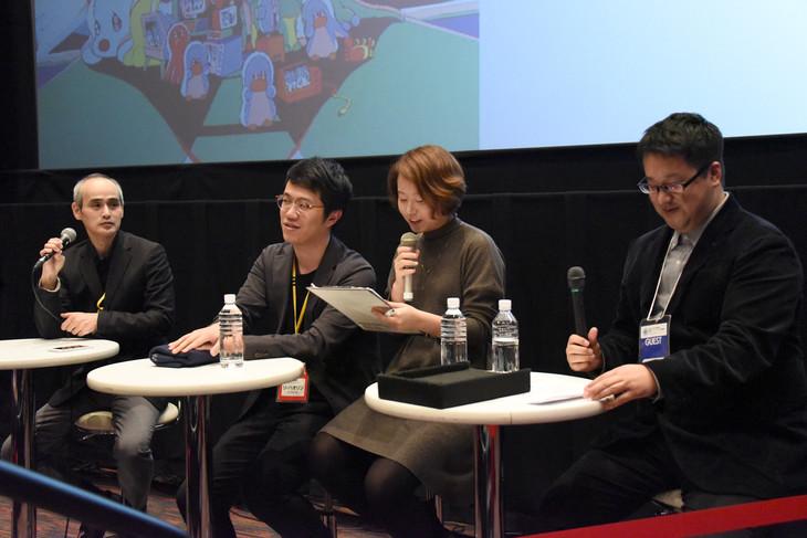 新千歳空港国際アニメーション映画祭にて行われた「詩季織々」トークイベントの様子。
