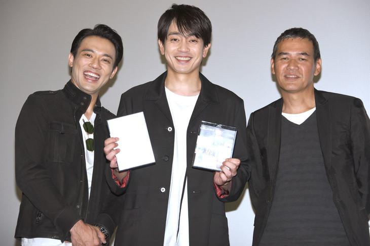 左から小澤雄太、青柳翔、SABU。