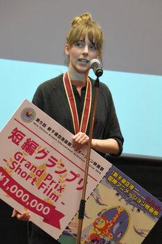 短編グランプリを受賞したレカ・ブシ。