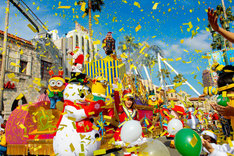 「ミニオン・ハチャメチャ・クリスマス・パーティ」の様子。