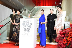 「VOGUE JAPAN WOMEN OF THE YEAR 2018」レッドカーペットの様子。