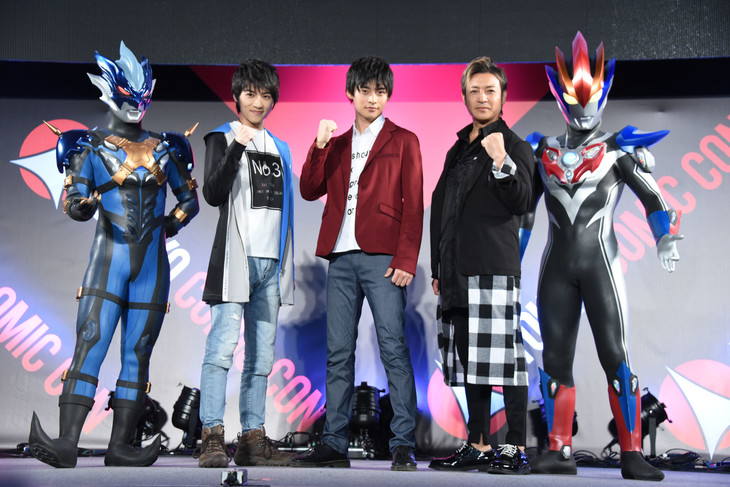 「劇場版ウルトラマンR/B セレクト!絆のクリスタル」製作発表会見の様子。