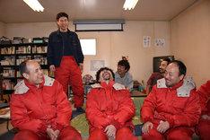 連続ドラマ「面白南極料理人」記者会見の様子。