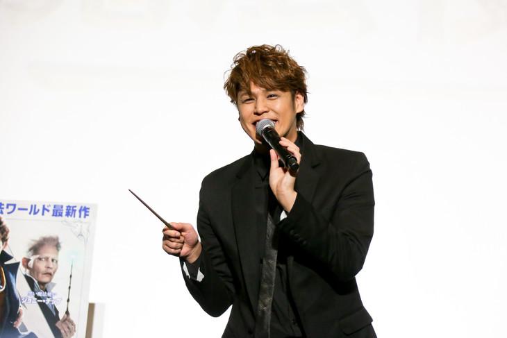 「ファンタスティック・ビーストと黒い魔法使いの誕生」応援上映イベントに登壇した宮野真守。