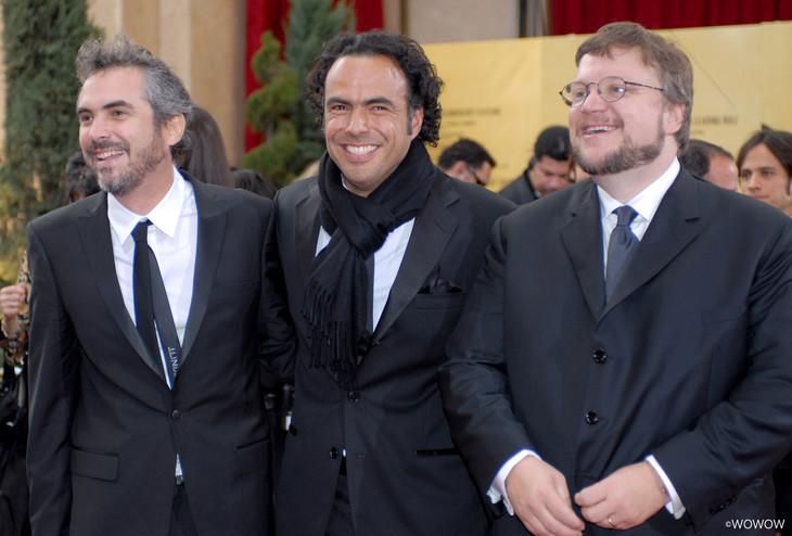 左からアルフォンソ・キュアロン、アレハンドロ・ゴンサレス・イニャリトゥ、ギレルモ・デル・トロ。(写真提供:Getty Images)