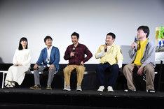 ドラマ「柴公園」1話完成披露上映会の様子。