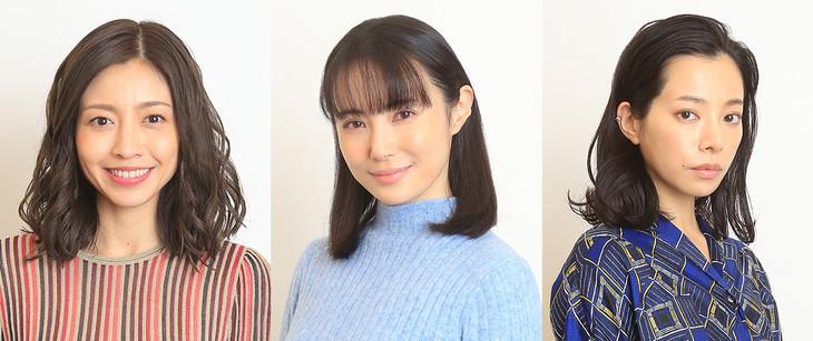 「絶対正義」の追加キャスト。左から片瀬那奈、美村里江