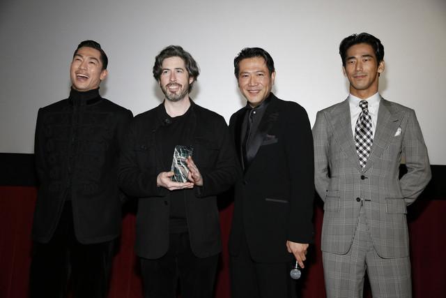 左からEXILE AKIRA、ジェイソン・ライトマン、別所哲也、小林直己。