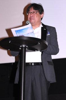 プロデューサーの渡井敏久。