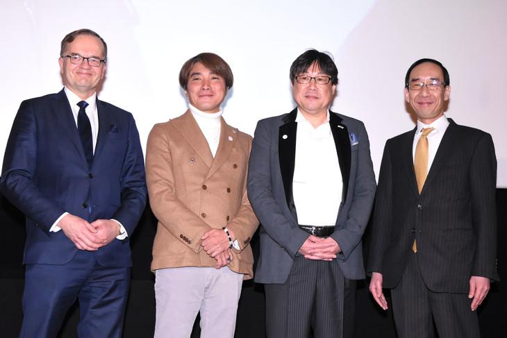 左からペッカ・ソイニ、橋本光二郎、渡井敏久、山本条太。