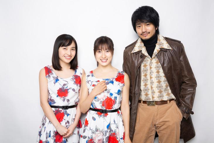 「約束のステージ~時を駆けるふたりの歌~」囲み取材の様子。左から百田夏菜子、土屋太鳳、向井理。